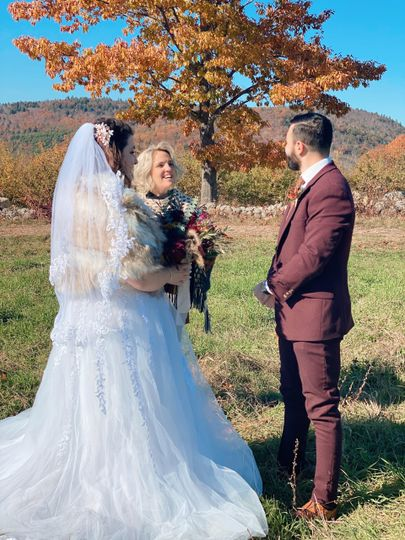 Married at Pie Tree Orchard!