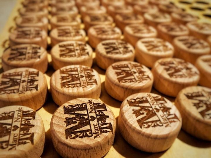 Make a lasting, classy impression with custom engraved Monogram Wine Stoppers, as low as $2!