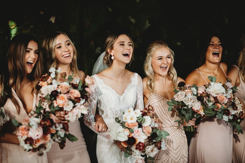 Beautiful Bride and her girls