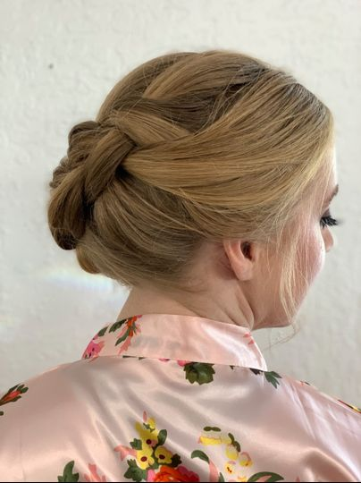 Braided Updo Look