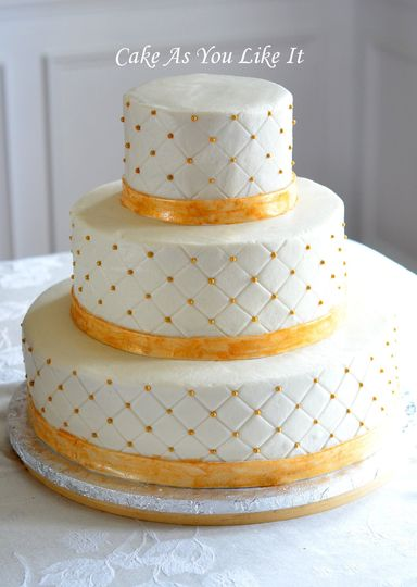 """14"""", 10"""" and 6"""" cakes for 110 servings.  Almond Raspberry and Vanilla Vanilla cakes.  Iced in..."""