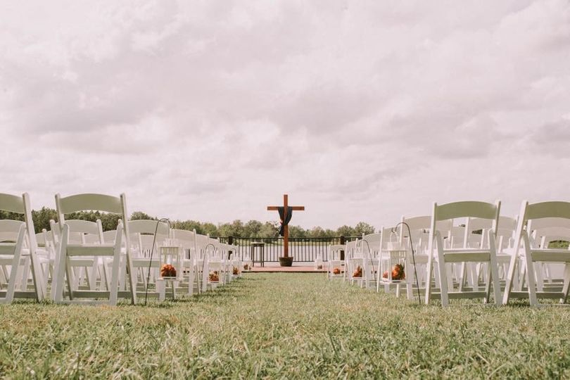 View down the aisle