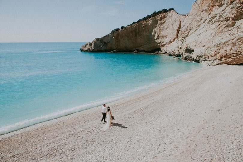 Beach wedding lefkas