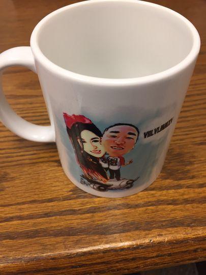 The mug on the table