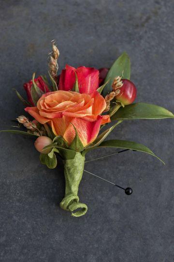 Red orange bouquet