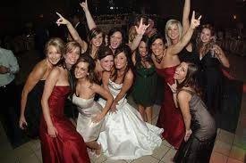 Bride with her ladies