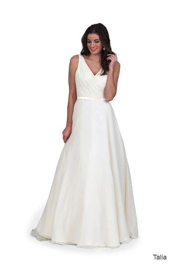Simple wedding dress idea