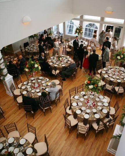 Guilford Yacht Club Ballroom shot from Mezzanine