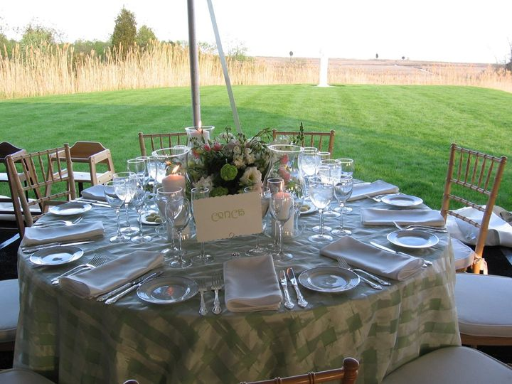 Guilford Yacht Club tented reception