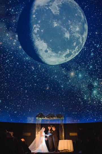 Planetarium wedding