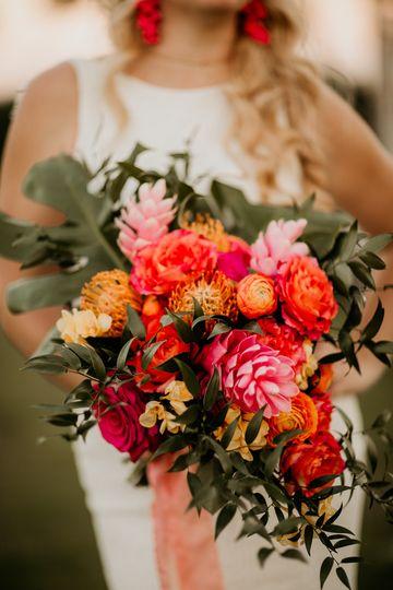 Tropical boho bouquet