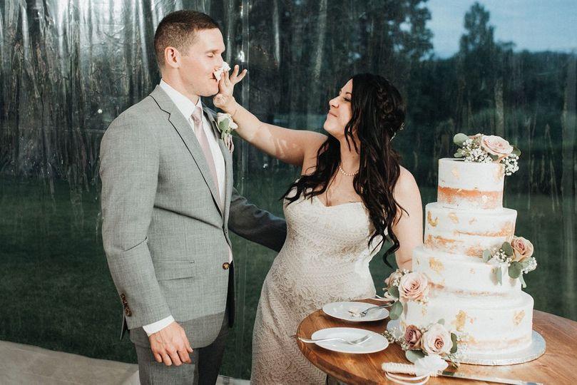 Fun with the wedding cake - Alexzandra Robertson Photography