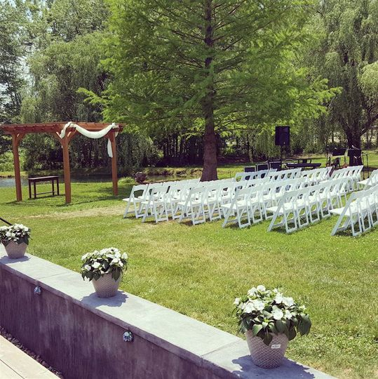 Outdoor wedding ceremony venue