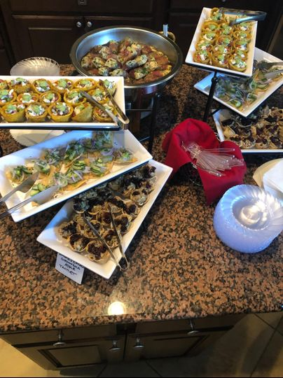 Hors d'oeuvres selection
