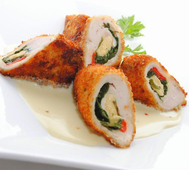 Panko Crust Stuffed Chicken