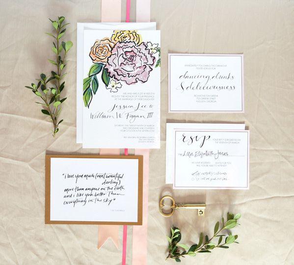 800x800 1455734161515 lake gaston weddingcourtneykhailwatercolors 800x800 1455733993810 blush and bashful spring watercolor invitations co