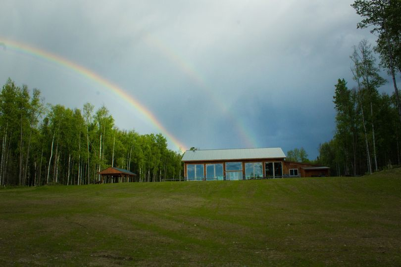 Lodge lawn rainbows