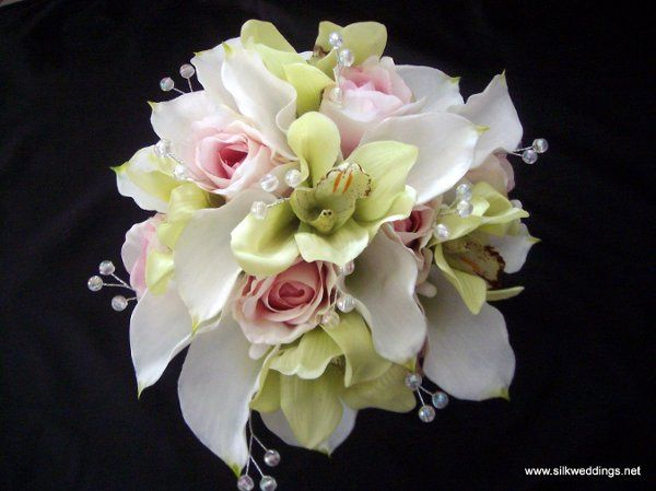 Cymbidium Orchid, Calla Lily and Roses