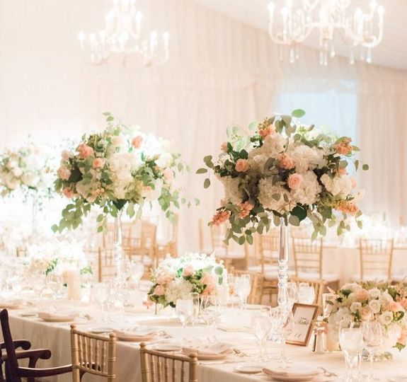 Bright pink reception