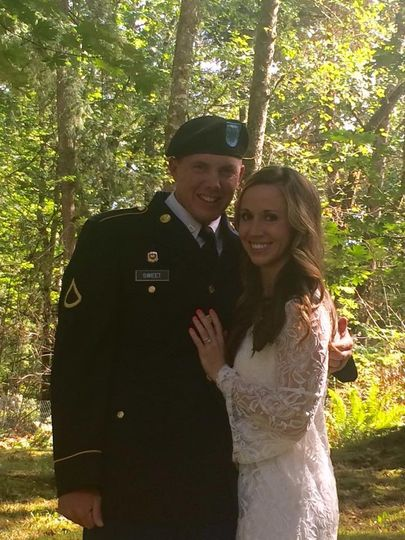 A beautiful backyard wedding!