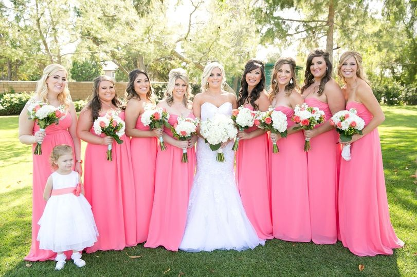 The bride with the girls