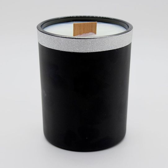 Wooden Wick Matte Black Candle