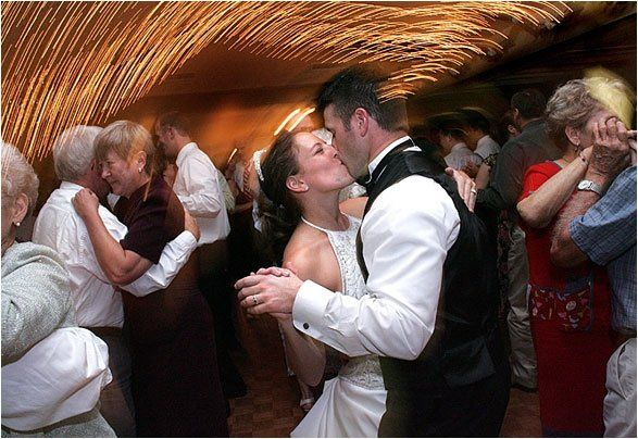Abbie and Tim dancing for the first time as husband and wife!