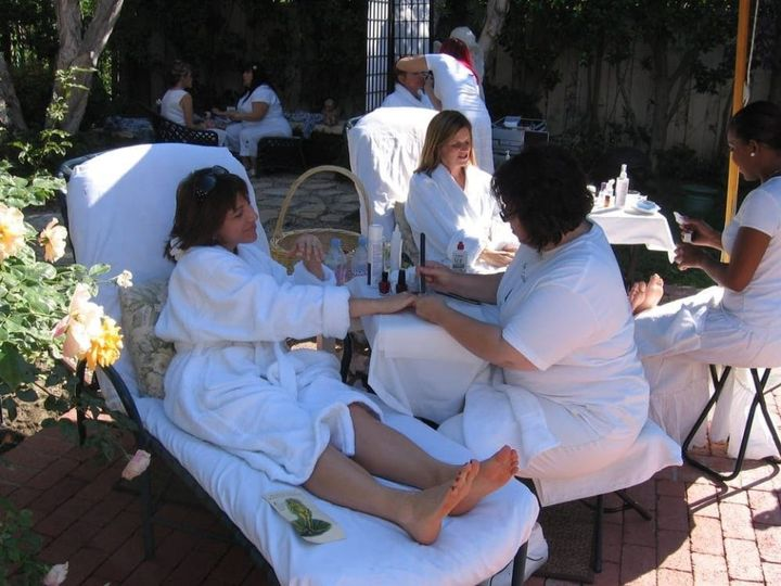 Enjoying spa services