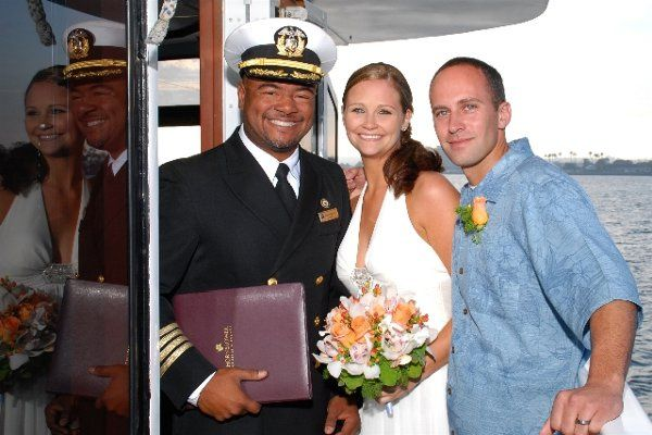 Couple with the captain
