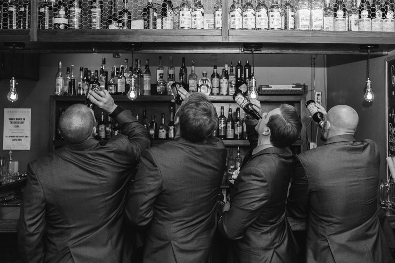 Groomsmen drank some liquor