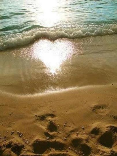 heart love the ocean