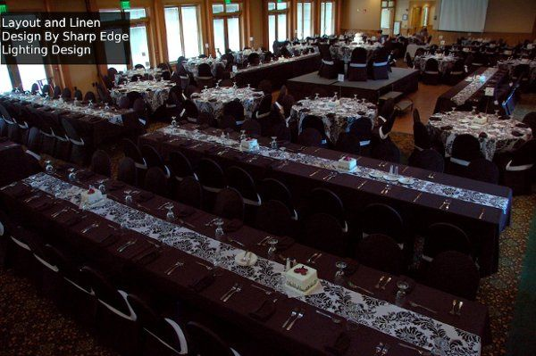 Long table for guests