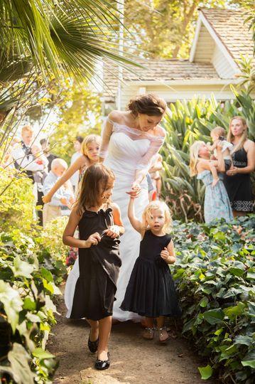 Bride with nieces