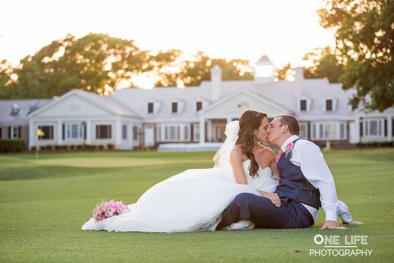 Kiss on the lawn