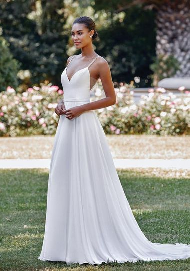 A-line ivory gown