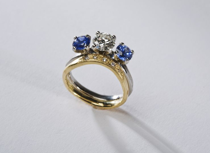 Diamond Platinum with Sapphires:  $7,200.00- $8,500.00  A Lovely Placement with the 1.10 ct. S1-H...