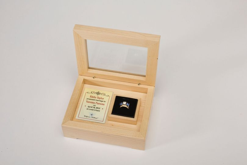 maple ring jewelry box