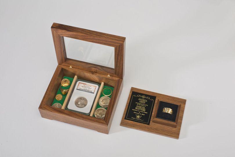 walnut box open