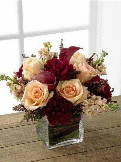blush stock pink heather burgundy carnations champ