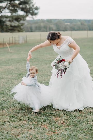 Matching with the flower girl