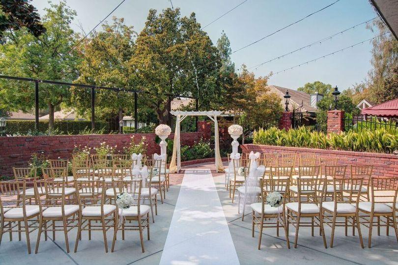 Garden Patio Ceremony Site