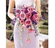 Tmx 1343306338405 CascadingLavenderRosesbouquet135.00 Mansfield wedding florist