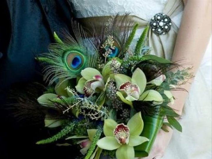Tmx 1343307708886 Greenfeatherbouquet Mansfield wedding florist