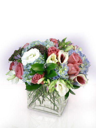 Tmx 1343307875030 Bluehydrangeapicassolilycenterpiece Mansfield wedding florist