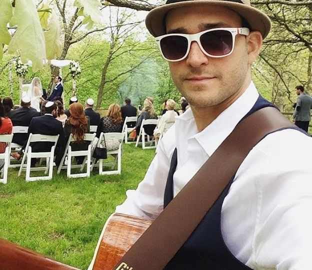 Acoustic guitar player for ceremony