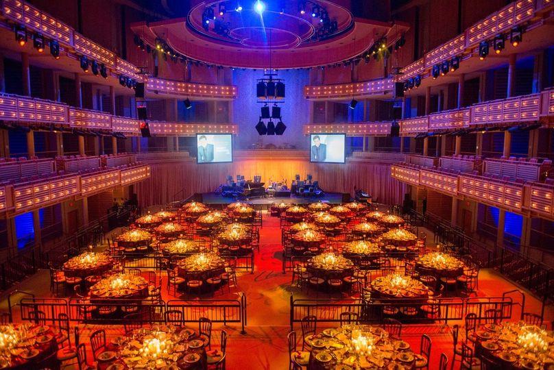 Knight Concert Hall Dinner on the Festival Floor