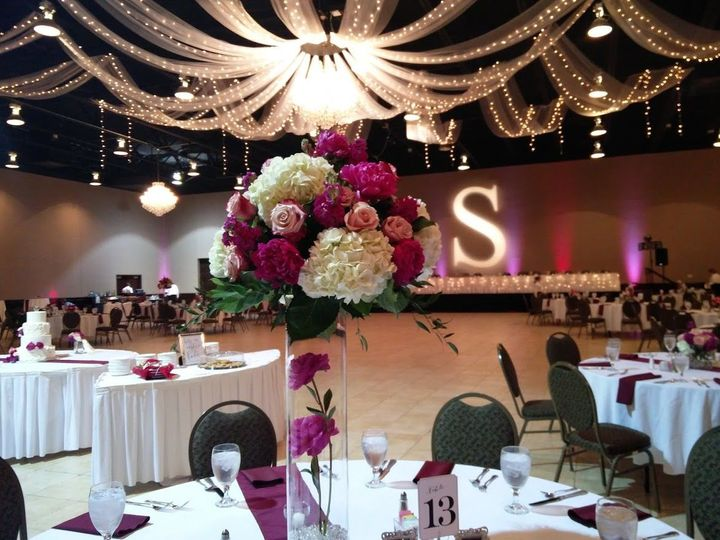 6d7a038825bec051 Ballroom with Centerpiece and GoBo