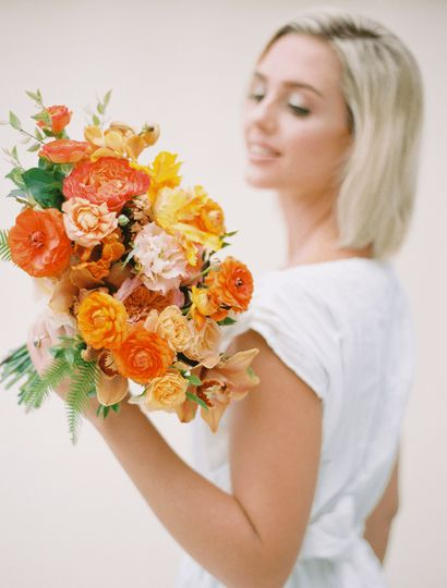 Sunset hue bouquet