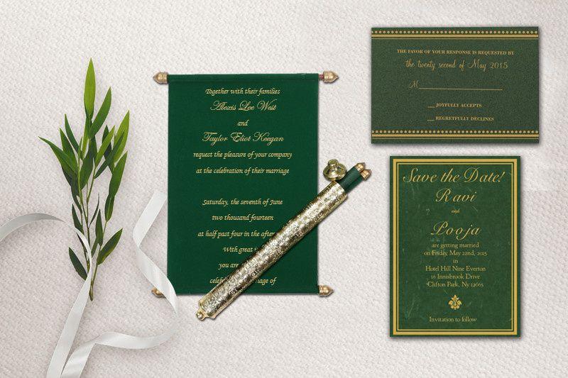 Royal Scroll Invitation Cards