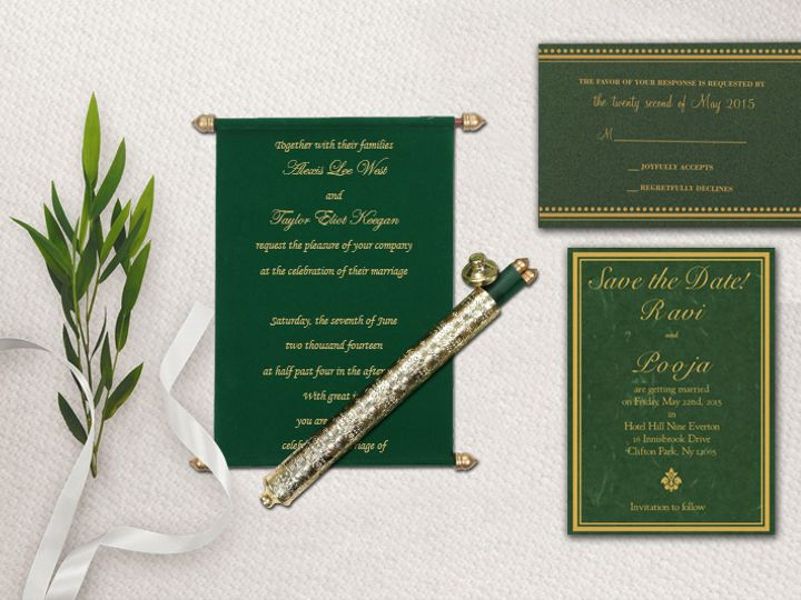 Tmx Scroll Invitations Indianweddingcards 51 788561 157534987456177 Iselin, NJ wedding invitation